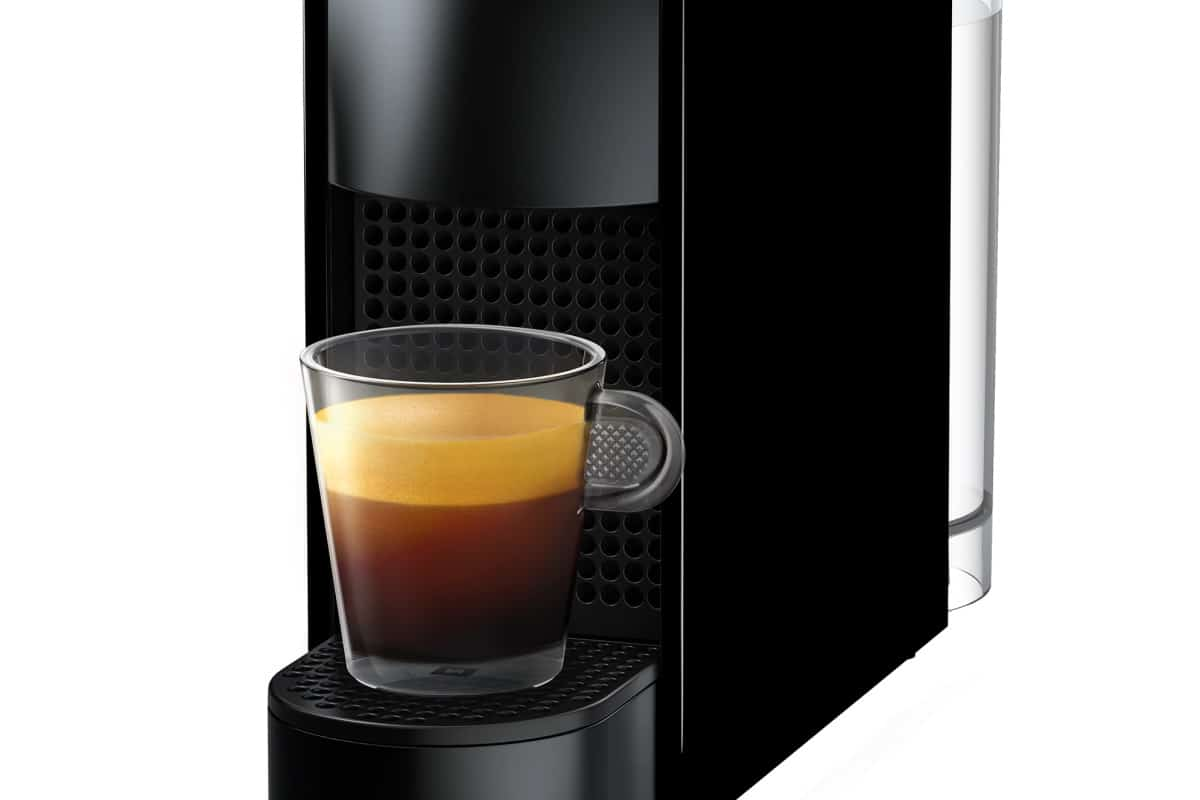 Close up of the Nespresso Essenza Mini