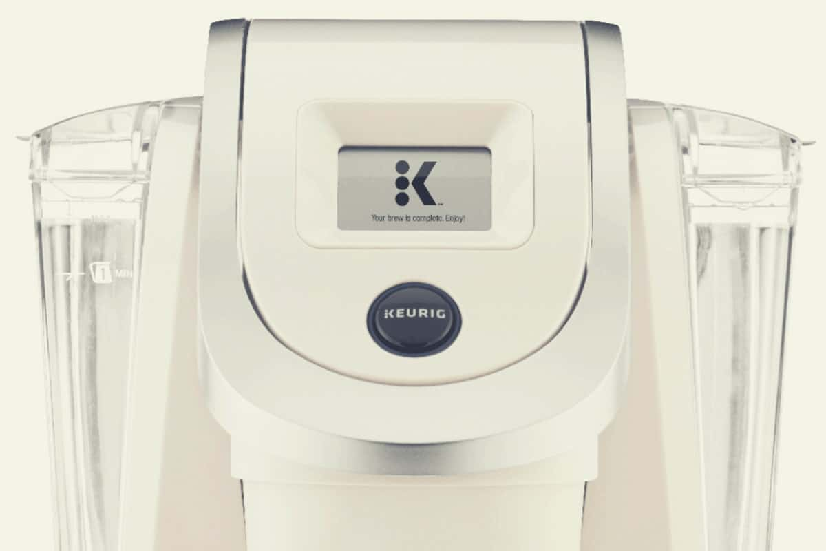 Close up of a Sandy Pearl Keurig K250