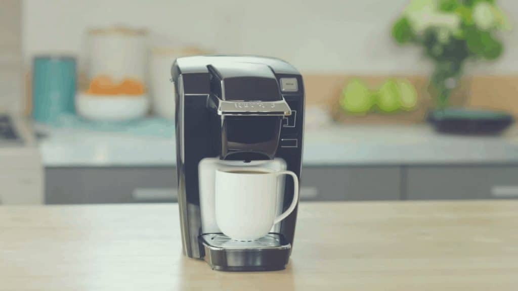 A promotional shot of the Keurig K15