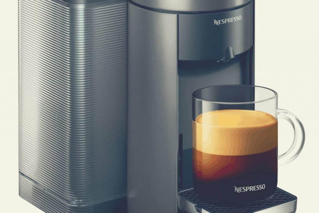 A close up shot of the Nespresso Evoluo