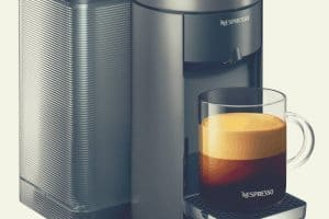 A close up shot of the Nespresso Evoluo