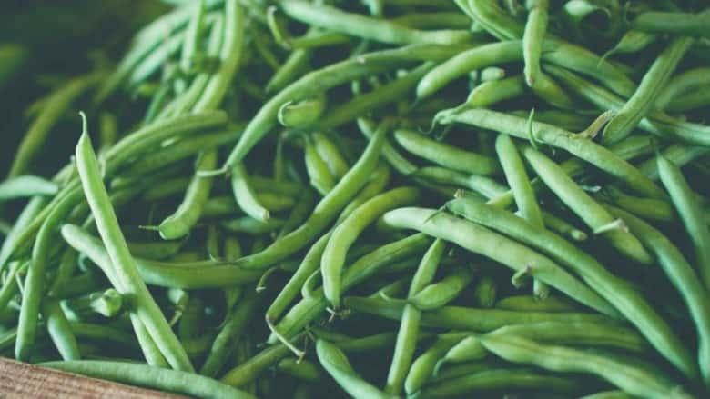 a pile of runner beans