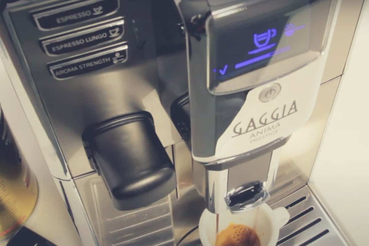Overhead close up shot of the Gaggia Anima Prestige coffee maker