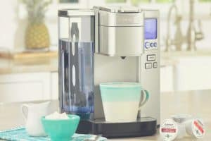 The Cuisinart SS-10 Premium single serve coffee maker in a kitchen
