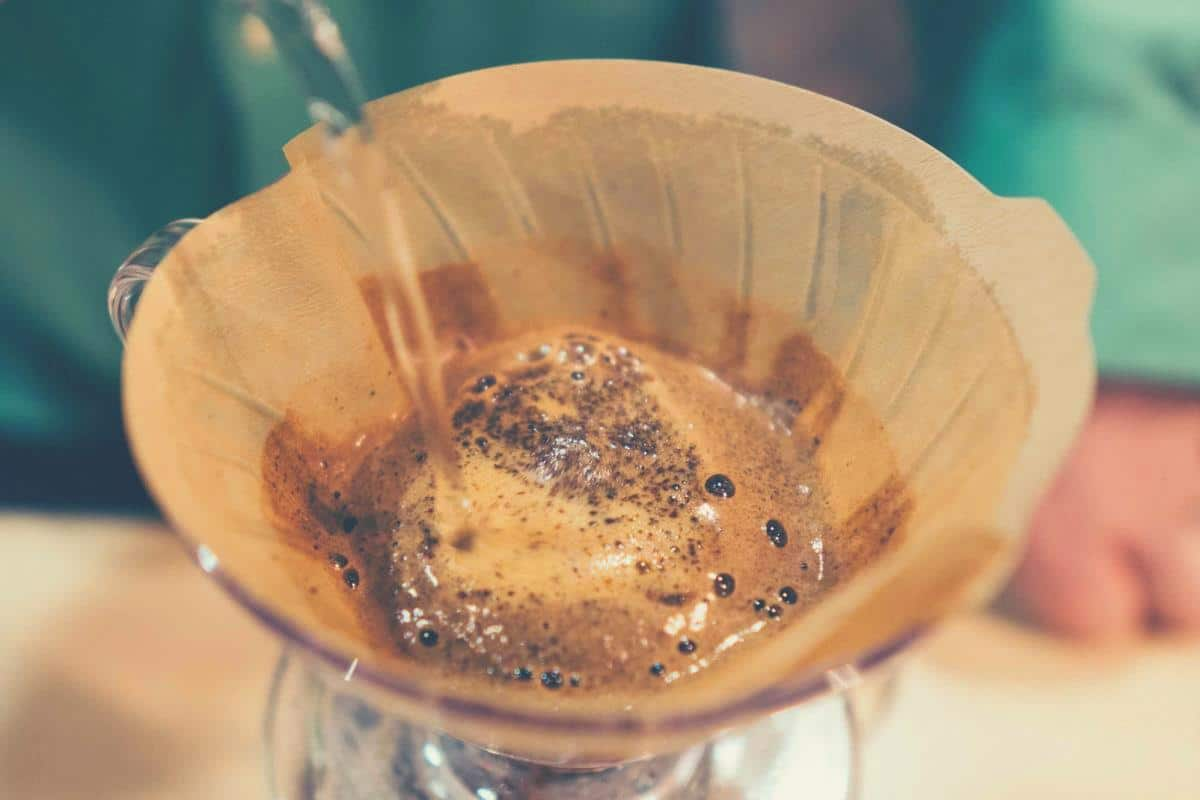Coffee being prepared using the pour over method