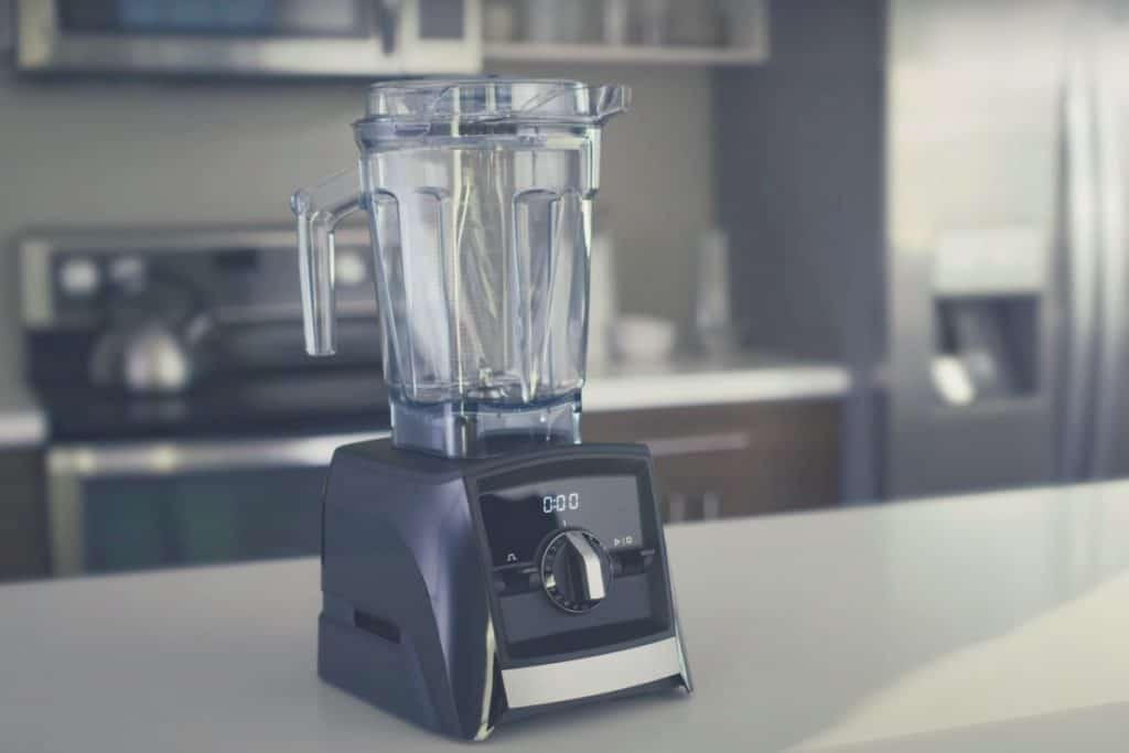 The Vitamix A2500 on a kitchen countertop