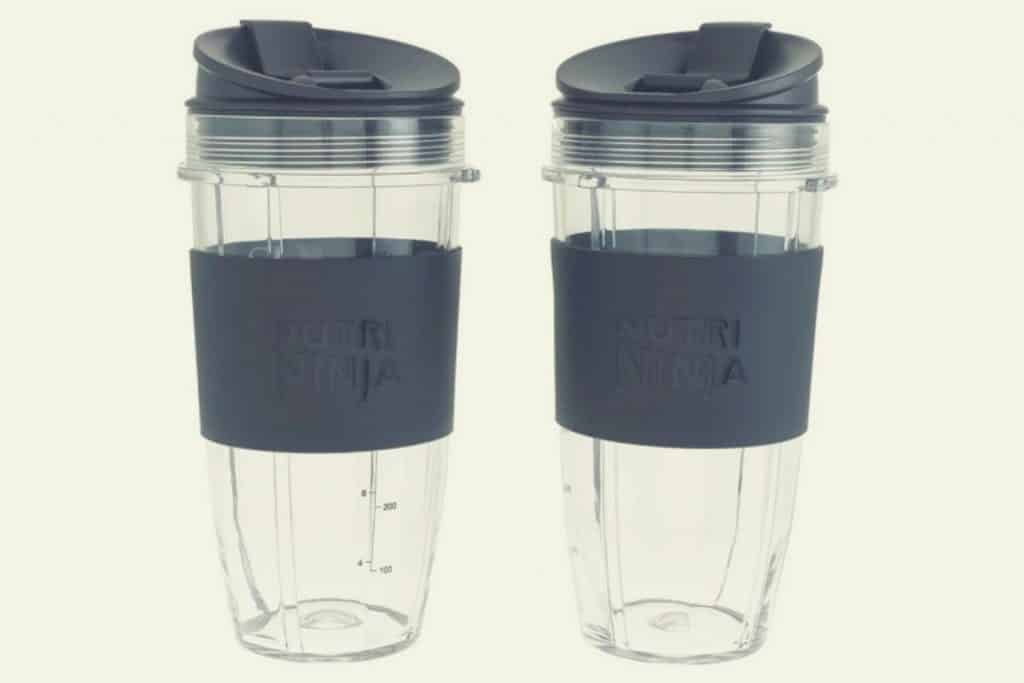Two Nutri Ninja Cups positioned side by side