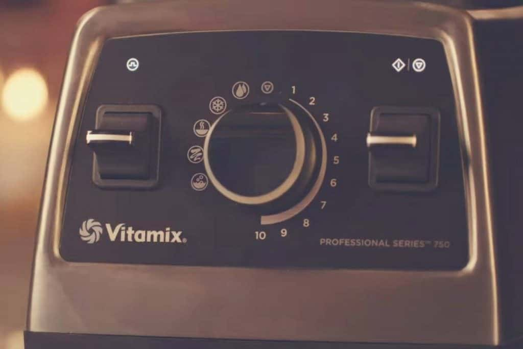 A close up shot of the Vitamix 750 Professional Series motor base
